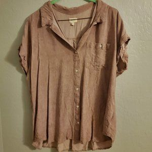 id:23 Dusty Rose button down